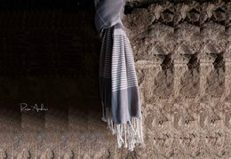 Elegant Turkish hammam towel