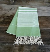 Apple Green Turkish beach towel