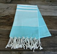 Turquoise Turkish beach towel