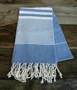 Navy Turkish beach towel