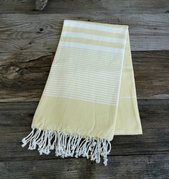 Yellow Turkish beach towel