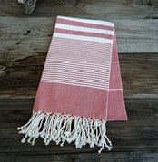Red Turkish beach towel