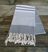 Grey Turkish beach towel